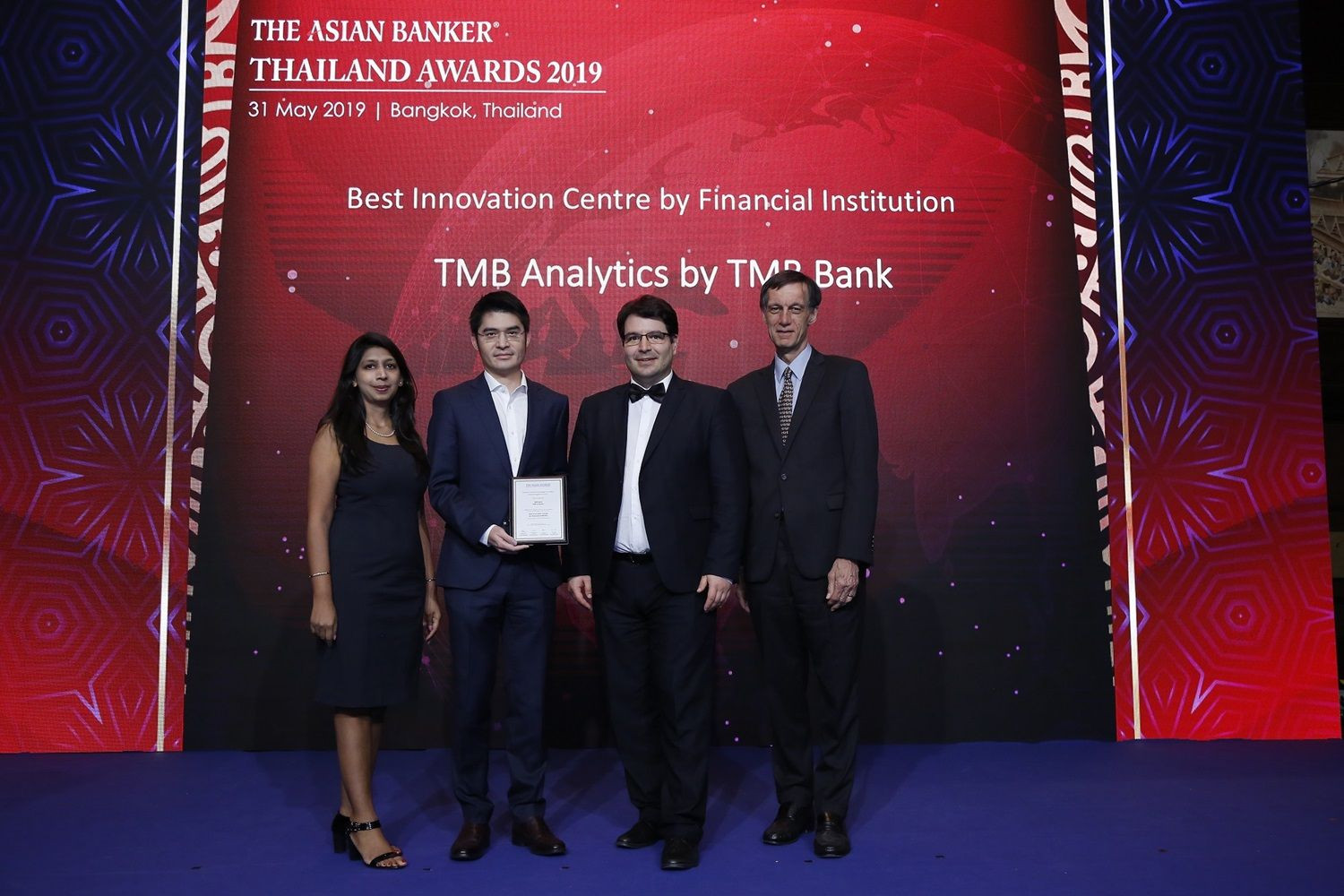 TMB Analytics รับรางวัล Best Innovation Centre by Financial Institution ในงาน THE ASIAN BANKER THAILAND AWARDS 2019